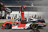 #20: Christopher Bell, Joe Gibbs Racing, Toyota Supra Ruud celebrates his win