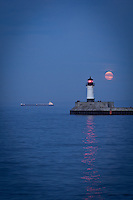 """Lake Superior under the Super Moon""<br />