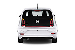 Straight rear view of a 2018 Volkswagen UP GTi 3 Door Hatchback stock images