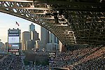 Seattle, Qwest Field, football stadiums, Seattle skyline, Washington State, Pacific Northwest, home of Seattle Seahawks football and the Seattle Sounders, soccer, First stadium use, Soccer friendly match between Celtic and Manchester United, June 22, 2003
