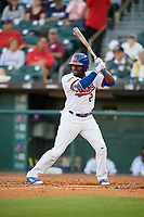 Buffalo Bisons right fielder Dwight Smith Jr. (2) bats during a game against the Syracuse Chiefs on June 30, 2017 at Coca-Cola Field in Buffalo, New York.  Syracuse defeated Buffalo 8-1.  (Mike Janes/Four Seam Images)