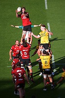 Cullen Grace takes lineout ball during the Super Rugby Aotearoa match between the Hurricanes and Crusaders at Sky Stadium in Wellington, New Zealand on Sunday, 11 April 2020. Photo: Dave Lintott / lintottphoto.co.nz
