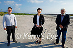Norma Foley TD with councillors Mikey Sheehy and Johnny Wall in Fenit on Monday evening after funding having been allocated to upgrade the Fenit Waste Water Treatment Plant.