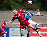 Aberdeen v St Johnstone...28.06.15  Glebe Park, Brechin..Pre-Season Friendly<br /> Adam Roonet and Brad McKay<br /> Picture by Graeme Hart.<br /> Copyright Perthshire Picture Agency<br /> Tel: 01738 623350  Mobile: 07990 594431