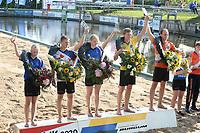 FIERLJEPPEN: BURGUM: 19-09-2020, NK Fierljeppen, winnaars, Inger Haanstra, Wisse Broekstra, Sigrid Bokma, Reinier Overbeek, Rian Baas, ©foto Martin de Jong