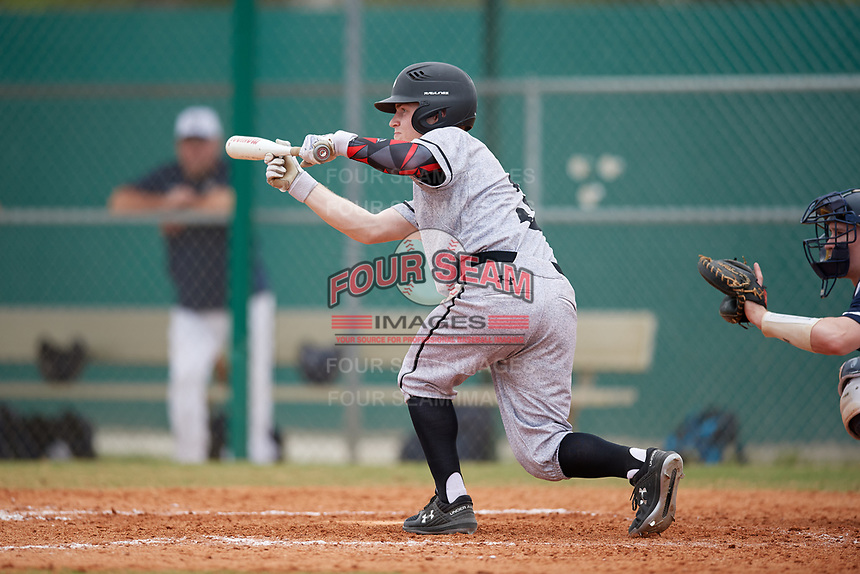 Edgewood Eagles left fielder Adam Cairo (3) during the first game of a double header against the Bethel Wildcats on March 15, 2019 at Terry Park in Fort Myers, Florida.  Bethel defeated Edgewood 6-0.  (Mike Janes/Four Seam Images)