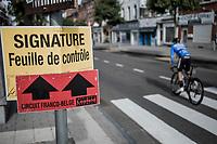 pre race sign in. <br /> <br /> 78th Euro Metropole Tour 2018<br /> La Louvière – Tournai (BEL): 206km