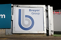 Breyer Group signage during Leyton Orient vs Forest Green Rovers, Sky Bet EFL League 2 Football at The Breyer Group Stadium on 23rd January 2021