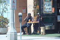 Lil Rel Howery Enjoy A smoothie In Beverly Hills