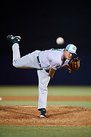 Daytona Tortugas relief pitcher Alex Webb (31) delivers a pitch during a game against the Tampa Tarpons on April 18, 2018 at George M. Steinbrenner Field in Tampa, Florida.  Tampa defeated Daytona 12-0.  (Mike Janes/Four Seam Images)