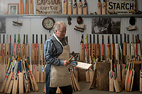 BNPS.co.uk (01202) 558833<br /> Pic: ZacharyCulpin/BNPS<br /> <br /> Tim tests out the finished product<br /> <br /> Master bat maker Tim Keeley is putting the finishing touches to his beautifully hand-crafted pieces of willow ahead of the forthcoming cricket season.<br /> <br /> Tim, 62, has made almost half a million bats since starting out as an apprentice at Gray Nicholls aged 16 in 1975.<br /> <br /> He is the founder of family business Keeley Cricket, in Battle, East Sussex, which he runs with his brother Nick who has 35 years of bat-making experience.