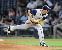 10 April 2008: Forest Cory of the Mobile BayBears, Class AA affiliate of the Arizona Diamondbacks, in a game against the Mississippi Braves at Trustmark Park in Pearl, Miss. Photo by:  Tom Priddy/Four Seam Images
