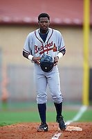 GCL Braves outfielder Ronald Acuna (24) during a game against the GCL Astros on July 23, 2015 at the Osceola County Stadium Complex in Kissimmee, Florida.  GCL Braves defeated GCL Astros 4-2.  (Mike Janes/Four Seam Images)