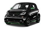 2018 Smart fortwo Greenflash 3 Door Hatchback angular front stock photos of front three quarter view