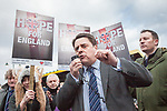 © Joel Goodman - 07973 332324 . 25/02/2012 . Hyde , UK . Leader of the British National Party NICK GRIFFIN speaks at a rally on the same day as the EDL demonstrate , following an assault on Daniel Stringer-Prince, whose family say they do not want the demonstration to take place in the town in their son's name. The EDL say Daniel was assaulted by a gang of Asian men . Photo credit : Joel Goodman