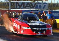 Feb 3, 2016; Chandler, AZ, USA; NHRA funny car driver Cruz Pedregon during pre season testing at Wild Horse Pass Motorsports Park. Mandatory Credit: Mark J. Rebilas-USA TODAY Sports