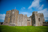 Thursday  19  June  2014<br /> <br /> Pictured:Exterior view of  Pembroke Castle, Wales UK <br /> Re:  Views of Pembroke Castle