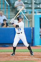 Hunter Lockwood (23) of the Hudson Valley Renegades at bat against the Brooklyn Cyclones at Dutchess Stadium on June 18, 2014 in Wappingers Falls, New York.  The Cyclones defeated the Renegades 4-3 in 10 innings.  (Brian Westerholt/Four Seam Images)