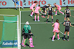 The Hague, Netherlands, June 06: During the field hockey group match (Women - Group B) between Germany and Argentina on June 6, 2014 during the World Cup 2014 at Kyocera Stadium in The Hague, Netherlands. Final score 0-3 (0-2) (Photo by Dirk Markgraf / www.265-images.com) *** Local caption *** Belen Succi #1 of Argentina, Mariana Rossi #2 of Argentina, Eileen Hoffmann #11 of Germany, Maike Stoeckel #24 of Germany, Kristina Hillmann #9 of Germany, Silvina D Elia #25 of Argentina, Martina Cavallero #7 of Argentina, Lena Jacobi #30 of Germany