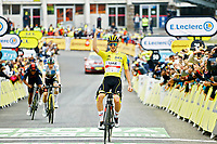15th July 2021; Luz Ardiden, Hautes-Pyrénées department, France;  POGACAR Tadej (SLO) of UAE TEAM EMIRATES wins stage 18 of the 108th edition of the 2021 Tour de France cycling race, a stage of 129,7 kms between Pau and Luz Ardiden.