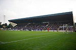 St Johnstone v Rosenborg....25.07.13  Europa League Qualifier<br /> A full Main Stand<br /> Picture by Graeme Hart.<br /> Copyright Perthshire Picture Agency<br /> Tel: 01738 623350  Mobile: 07990 594431