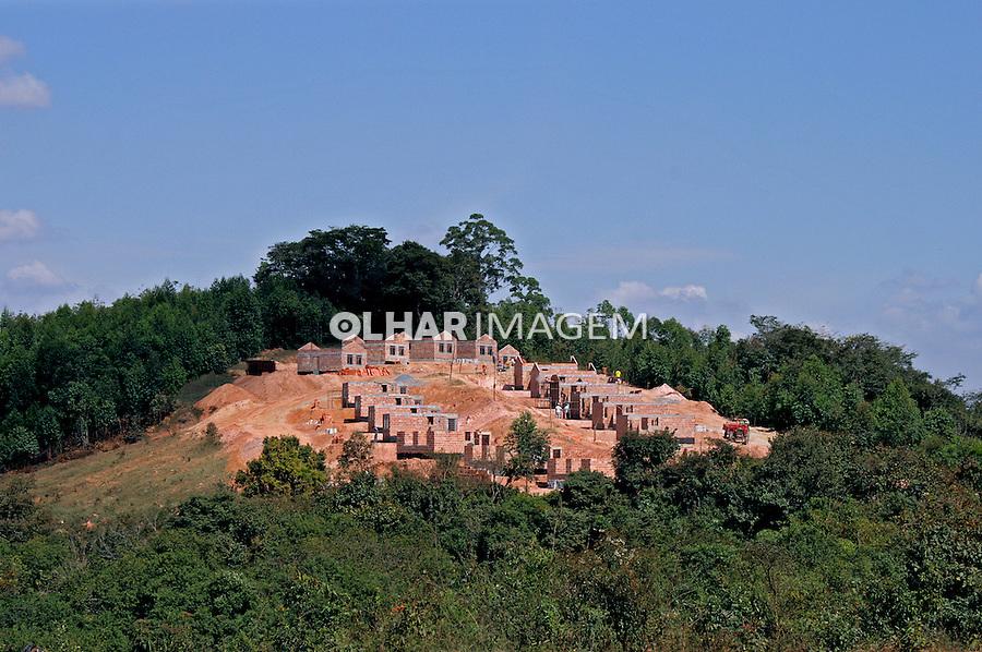 Construção de conjunto habitacional em São João Del Rei. Minas Gerais. 2009. Foto de Flávio Bacellar.