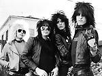Motley Crue 1981 Vince Neil, Mick Mars Tommy Lee and Nikki Sixx.© Chris Walter.