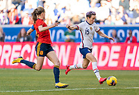 HARRISON, NJ - MARCH 08: Megan Rapinoe #15 of the United States lines up a shot during a game between Spain and USWNT at Red Bull Arena on March 08, 2020 in Harrison, New Jersey.