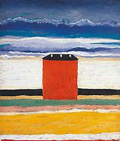 Kazimir Severinovich Malevich (1879-1935), The Red House, 1932.
