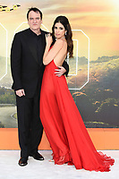 """Quentin and Danielle Tarantino<br /> arriving for the """"Once Upon a Time... in Hollywood"""" premiere, Leicester Square, London<br /> <br /> ©Ash Knotek  D3514  30/07/2019"""