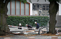 (Oslo July 25, 2011) Police forensic team search through the rubble outside the Prime Ministers office...A large vehicle bomb was detonated near the offices of Norwegian Prime Minister Jens Stoltenberg on 22 July 2011. .Another terrorist attack took place shortly afterwards, where a man killed 68 people, mainly children and youths attending a political camp at Utøya island. ..Anders Behring Breivik was arrested on the island and has admitted to carrying out both attacks..(photo:Fredrik Naumann/Felix Features)