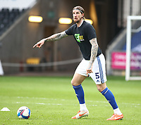 20th March 2021; Liberty Stadium, Swansea, Glamorgan, Wales; English Football League Championship Football, Swansea City versus Cardiff City; Aden Flint of Cardiff City gives instructions during warm up
