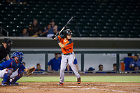 AZL Giants shortstop Nico Giarratano (9) at bat against the AZL Cubs on September 6, 2017 at Sloan Park in Mesa, Arizona. AZL Giants defeated the AZL Cubs 6-5 to even up the Arizona League Championship Series at one game a piece. (Zachary Lucy/Four Seam Images)