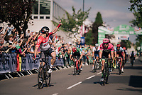 André Greipel (DEU/Lotto-Soudal) wins stage 4<br /> <br /> 15th Ovo Energy Tour of Britain 2018 (2.HC)<br /> Stage 4: Nuneaton to Royal Leamington Spa (183km)