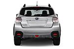 Straight rear view of a 2017 Subaru XV Premium 5 Door SUV stock images