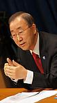 Ban Ki Moon first press confe in 2011