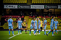 7th November 2020; Vicarage Road, Watford, Hertfordshire, England; English Football League Championship Football, Watford versus Coventry City; William Troost-Ekong equalises for Watford in the 66th minute for 2-2