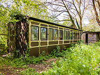 BNPS.co.uk (01202) 558833. <br /> Pic: Stags/BNPS<br /> <br /> Pictured: There is even an old train carriage in the 6.2-acre gardens that could be converted and earn income as a holiday rental.<br /> <br /> Pictured: Station Halt was the station for Brampford Speke in Devon on the Exe Valley Railway line until it closed as part of the Beeching cuts in 1963.<br /> <br /> Just the ticket...<br /> <br /> A converted railway station with an old train carriage in the garden - on the market for offers over £550,000 - is the perfect home for train enthusiasts.<br /> <br /> Station Halt was the station for Brampford Speke in Devon on the Exe Valley Railway line until it closed as part of the Beeching cuts in 1963.<br /> <br /> The 136-year-old building was converted shortly after and is now a pretty three-bedroom bungalow with original features including the waiting room fireplace, ticket office window and the old train platform.<br /> <br /> There is even an old train carriage in the 6.2-acre gardens that could be converted and earn income as a holiday rental.