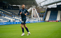 20th February 2021; The John Smiths Stadium, Huddersfield, Yorkshire, England; English Football League Championship Football, Huddersfield Town versus Swansea City; Conor Hourihane of Swansea City takes the first corner of the match