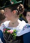 Deutschland, Bayern, Oberbayern, Chiemgau, Siegsdorf: Trachtenwallfahrt zum Wallfahrtsort Maria Eck | Germany, Bavaria, Upper Bavaria, Chiemgau, Siegsdorf: costume procession to Maria Eck, place of pilgrimage