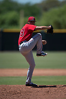 Los Angeles Angels relief pitcher Jerryell Rivera (98) delivers a pitch during an Extended Spring Training game against the Giants Black at the San Francisco Giants Training Complex on May 25, 2018 in Scottsdale, Arizona. (Zachary Lucy/Four Seam Images)