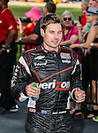 Will Power (12) driver of the Verizon Team Penske car, in action during the IZOD Indycar Firestone 550 race at Texas Motor Speedway in Fort Worth,Texas. Justin Wilson (18) driver of the Sonny's BBQ car wins the Firestone 550 race...