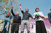 Podemos Secretary General Pablo Iglesias and presidential candidate Teresa Rodriguez at a rally in Malaga a week before Andalusian parliamentary elections in which the grassroots party is hoping to make significant gains.