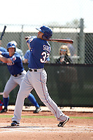 Jake Skole of the Texas Rangers  plays in a minor league spring training game against the Kansas City Royals at the Rangers complex on March 22, 2011  in Surprise, Arizona. .Photo by:  Bill Mitchell/Four Seam Images.
