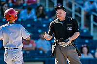 2 March 2019: MLB Umpire Greg Gibson works a Spring Training game between the Washington Nationals and the Minnesota Twins at the Ballpark of the Palm Beaches in West Palm Beach, Florida. The Nationals defeated the Twins 10-6 in Grapefruit League play. Mandatory Credit: Ed Wolfstein Photo *** RAW (NEF) Image File Available ***