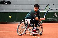 9th October 2020, Roland Garros, Paris, France; French Open tennis, Roland Garr2020; Mens doubles final,  Shingo Kunieda jpn