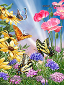 Dona Gelsinger, FLOWERS, BLUMEN, FLORES,butterflies,butterfly, paintings+++++,USGE1834A,#f#, EVERYDAY