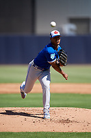 Toronto Blue Jays starting pitcher Marcus Stroman (6) delivers a pitch during a Grapefruit League Spring Training game against the New York Yankees on February 25, 2019 at George M. Steinbrenner Field in Tampa, Florida.  Yankees defeated the Blue Jays 3-0.  (Mike Janes/Four Seam Images)