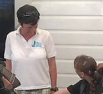 Pictured:  Natasha Lambert meeting Dame Ellen MacArtur in 2014.<br /> <br /> A young woman with cerebral palsy has sailed 3,000 miles across the Atlantic ocean in just 18 days - using only her mouth and tongue to control the boat.<br /> <br /> Natasha Lambert, 23, used the 'sip and puff' system engineered by her electrician father to sail from Gran Canaria on the Western coast of Africa to St Lucia in the Caribbean.<br /> <br /> The trip, which hoped to raise £30,000 for three charities, took 18 days, 24 hours, 29 minutes and eight seconds to complete.   SEE OUR COPY FOR DETAILS.<br /> <br /> © Solent News & Photo Agency<br /> UK +44 (0) 2380 458800