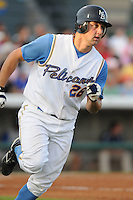 July 7, 2008: Catcher Phillip Britton (26) of the Myrtle Beach Pelicans, Class A affiliate of the Atlanta Braves, in a game against the Wilmington Blue Rocks at BB&T Coastal Field in Myrtle Beach, S.C. Photo by:  Tom Priddy/Four Seam Image